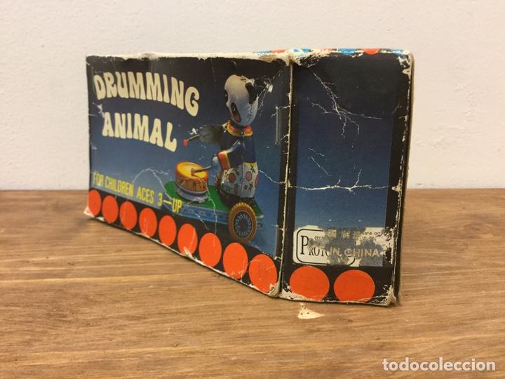 Juguetes antiguos de hojalata: JUGUETE HOJALATA DRUMMING ANIMAL REF/MS 565. - Foto 10 - 162075465