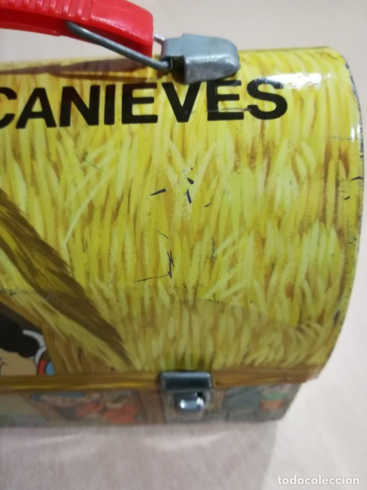 Juguetes antiguos de hojalata: antigua fiambrera cabas tartera caja hojalata blancanieves y los siete enanitos walt disney - Foto 8 - 162985862