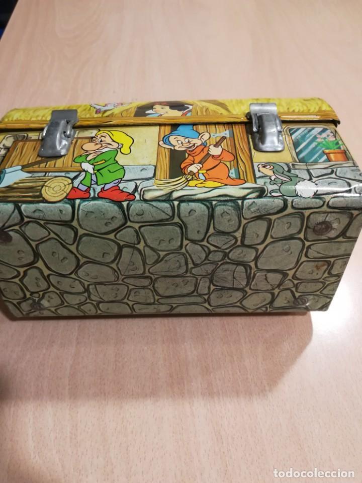 Juguetes antiguos de hojalata: antigua fiambrera cabas tartera caja hojalata blancanieves y los siete enanitos walt disney - Foto 11 - 162985862