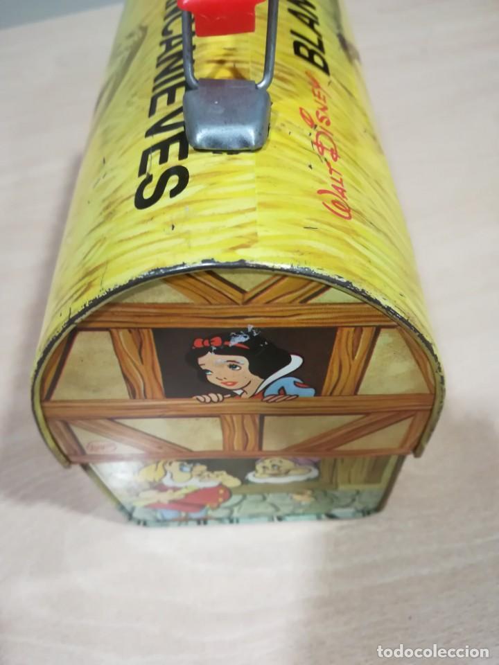 Juguetes antiguos de hojalata: antigua fiambrera cabas tartera caja hojalata blancanieves y los siete enanitos walt disney - Foto 23 - 162985862