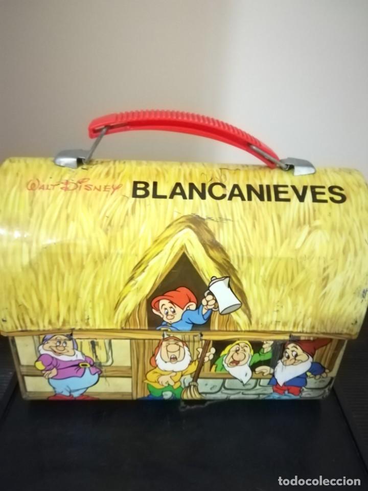 Juguetes antiguos de hojalata: antigua fiambrera cabas tartera caja hojalata blancanieves y los siete enanitos walt disney - Foto 24 - 162985862
