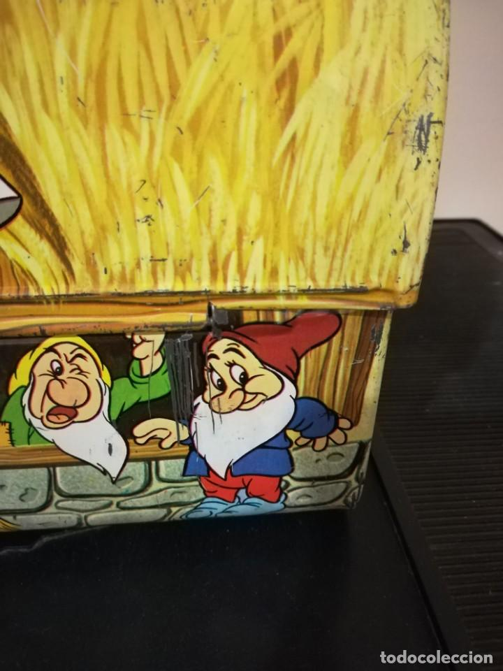Juguetes antiguos de hojalata: antigua fiambrera cabas tartera caja hojalata blancanieves y los siete enanitos walt disney - Foto 26 - 162985862