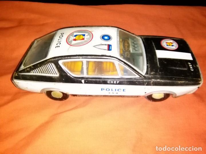 COCHE HOJALATA POLICIA PAYA (Juguetes - Juguetes Antiguos de Hojalata Españoles)
