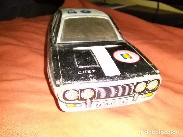 Juguetes antiguos de hojalata: coche hojalata policia paya - Foto 2 - 163527430