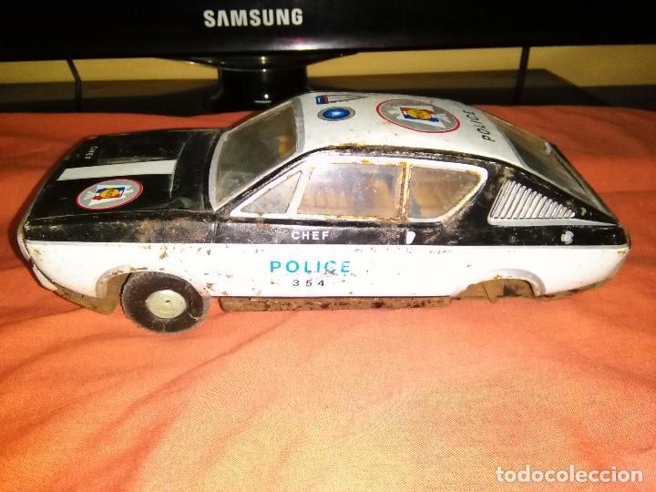 Juguetes antiguos de hojalata: coche hojalata policia paya - Foto 3 - 163527430