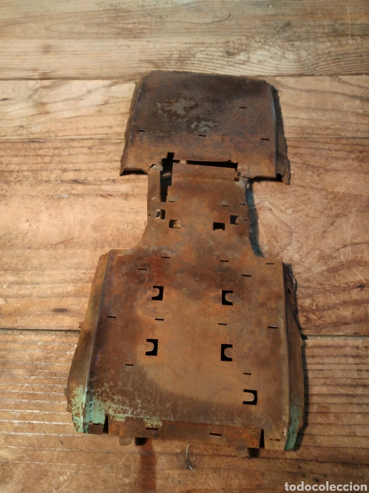 Juguetes antiguos de hojalata: Suelo carrocería Guagua Rico años 30 - Foto 2 - 165539714