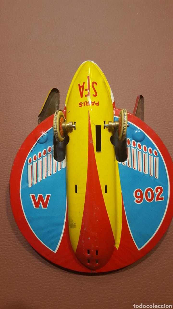 Juguetes antiguos de hojalata: Nave espacial hojalata SFA París - Foto 2 - 165595129