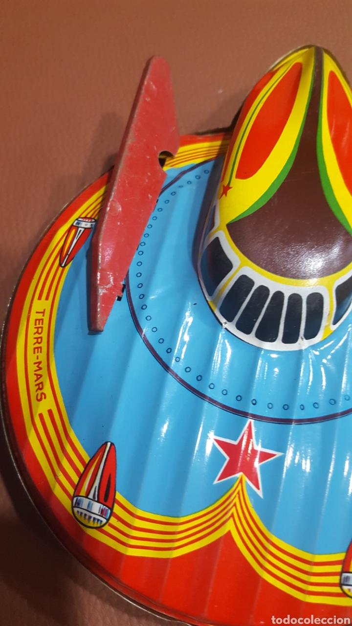Juguetes antiguos de hojalata: Nave espacial hojalata SFA París - Foto 5 - 165595129