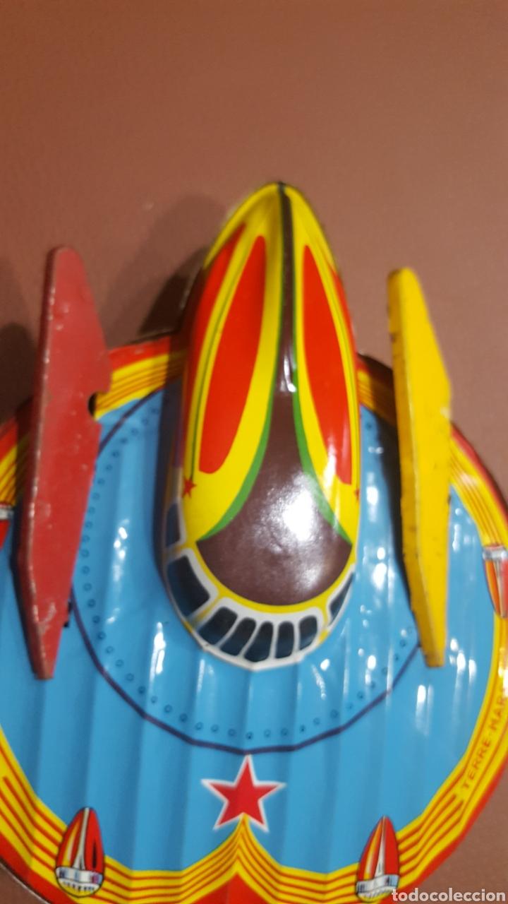 Juguetes antiguos de hojalata: Nave espacial hojalata SFA París - Foto 6 - 165595129