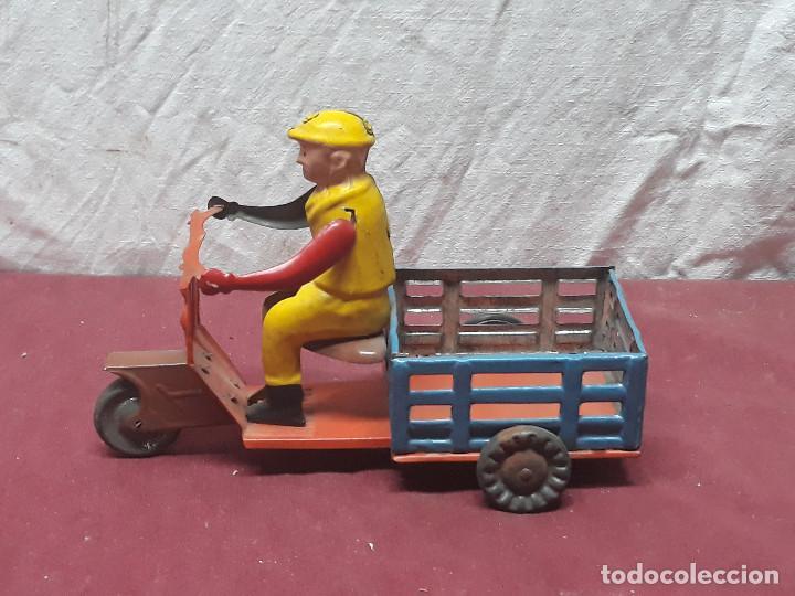 MOTOCARRO...JUGUETE DE CHAPA... AÑOS 70 (Juguetes - Juguetes Antiguos de Hojalata Extranjeros)