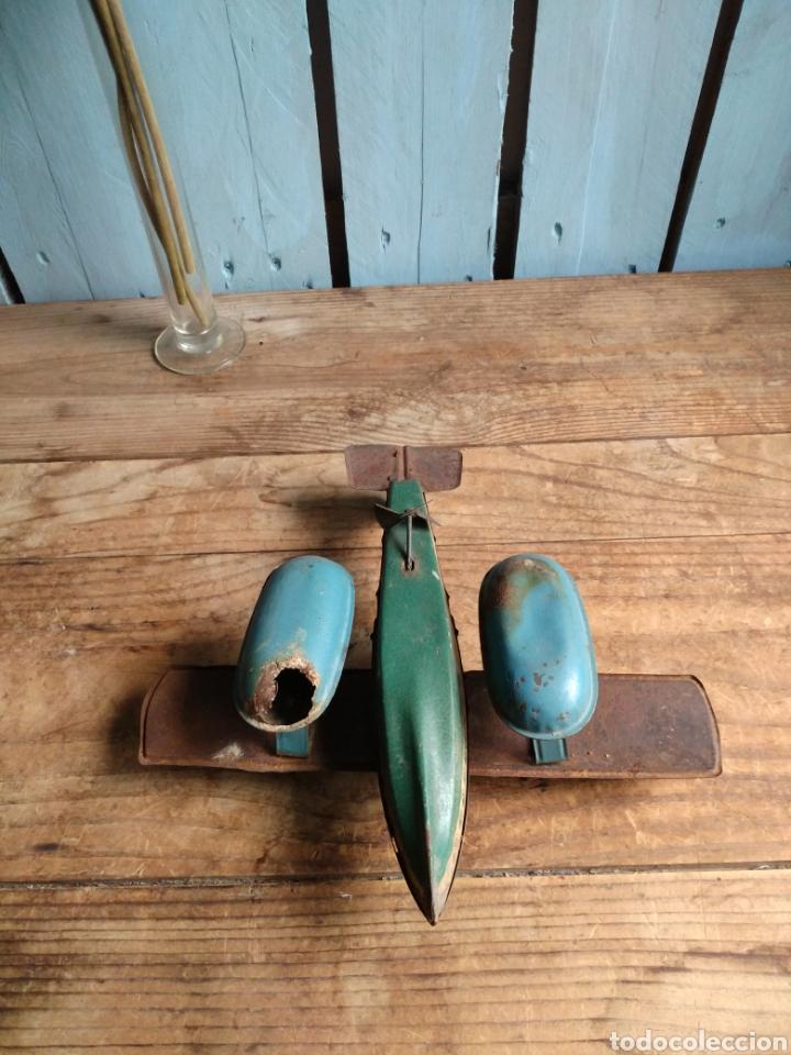 Juguetes antiguos de hojalata: Juguete Hidroavión litografía Rico RSA 1934 - Foto 3 - 165909404