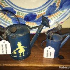 Juguetes antiguos de hojalata: REGADERAS DE HOJALATA RICO. NO PAYA NO JYESA. Lote 166094666