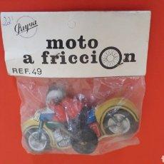 Altes Blechspielzeug - Moto fabricada en lata, aprox. 9 cms, fricción, Payva tipo Paya, Ibi Spain, original años 70. - 167076408