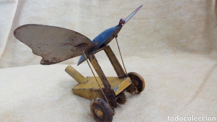 Juguetes antiguos de hojalata: FERCHEN. DENIA. MARIPOSA HOJALATA ARRASTRE. COMPLETA. NO RICO, PAYA - Foto 2 - 167912409