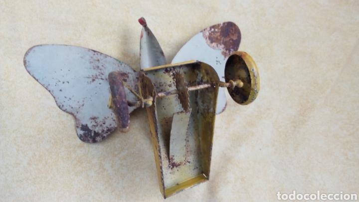 Juguetes antiguos de hojalata: FERCHEN. DENIA. MARIPOSA HOJALATA ARRASTRE. COMPLETA. NO RICO, PAYA - Foto 6 - 167912409