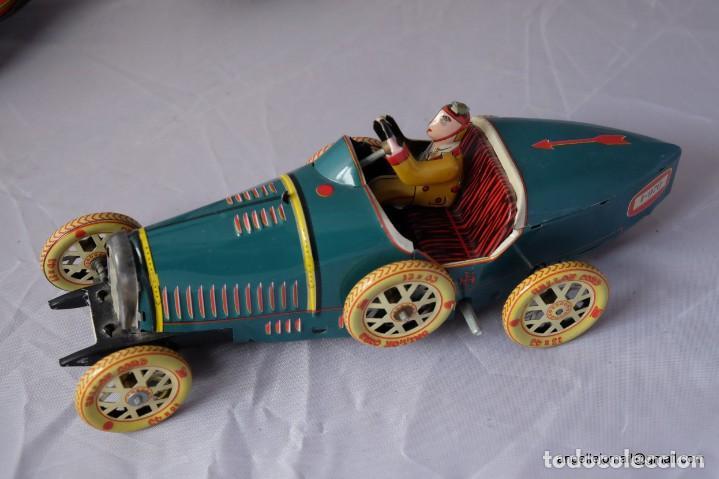 Juguetes antiguos de hojalata: Tres juguetes de hojalata, edición año 2000. - Foto 2 - 168813980