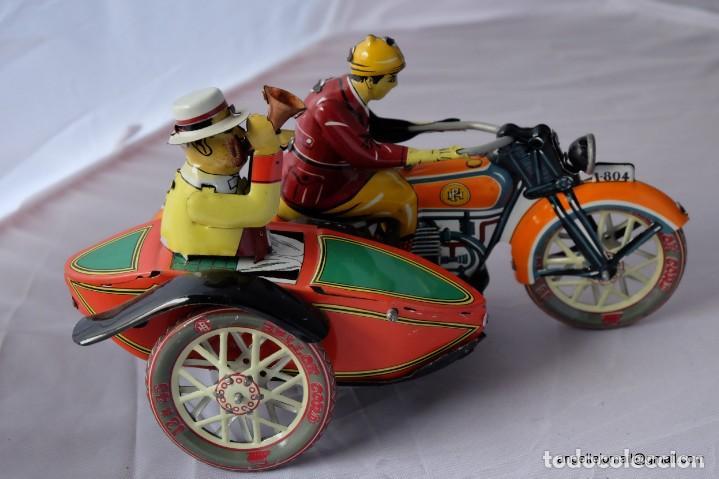 Juguetes antiguos de hojalata: Tres juguetes de hojalata, edición año 2000. - Foto 4 - 168813980