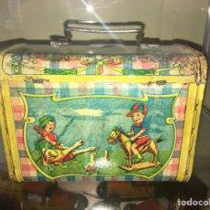 Juguetes antiguos de hojalata: CABAS DE HOJALATA RICO. Lote 168987921