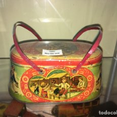 Juguetes antiguos de hojalata: CABAS DE HOJALATA RICO. Lote 168988014