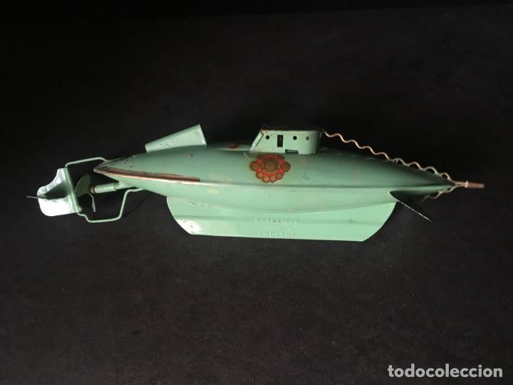 Juguetes antiguos de hojalata: NAUTILUS de SUTCLIFFE realizado para Disney, años 50 - PAYA - RICO - SCHUCO - VIAJE SUBMARINO - Foto 3 - 171477628