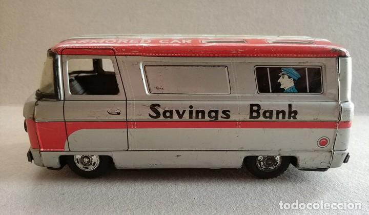 Juguetes antiguos de hojalata: furgon blindado hucha armored car savings bank hayashi japan antiguo años 60 - Foto 2 - 172009564
