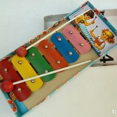 Juguetes antiguos de hojalata: XILOFON-JUGUETES MEDITERRANEO-. Lote 172062090