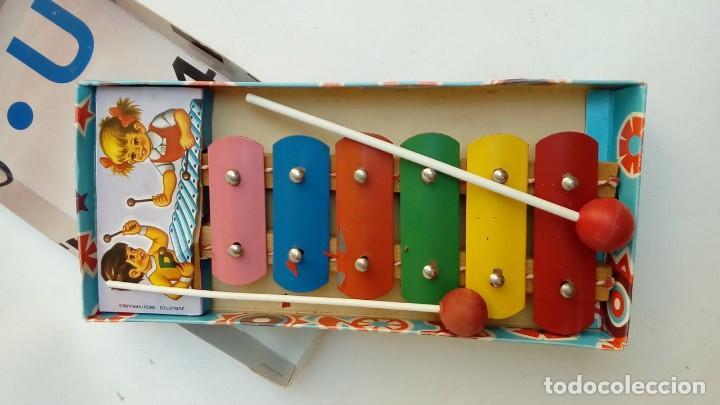 Juguetes antiguos de hojalata: xilofon-juguetes mediterraneo- - Foto 2 - 172062090
