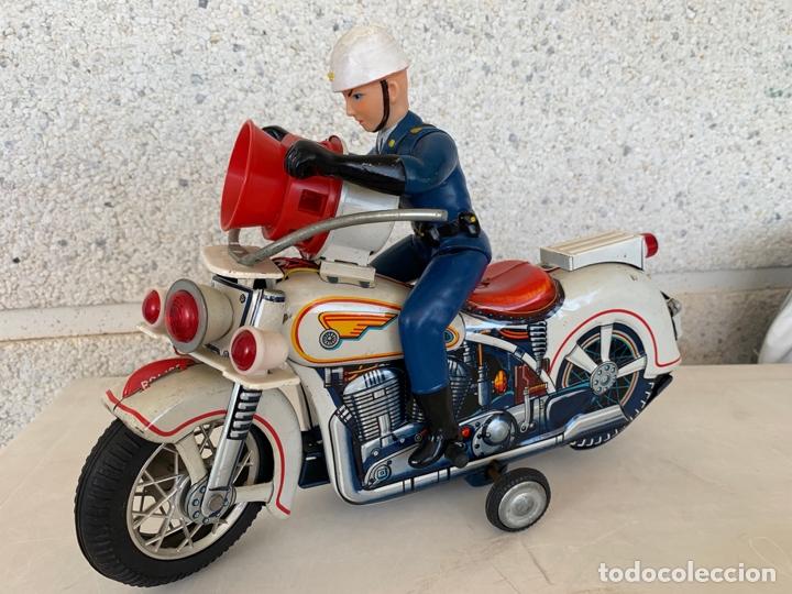MOTO POLICE MODERN TOYS MADE IN JAPAN HOJALATA (Juguetes - Juguetes Antiguos de Hojalata Extranjeros)