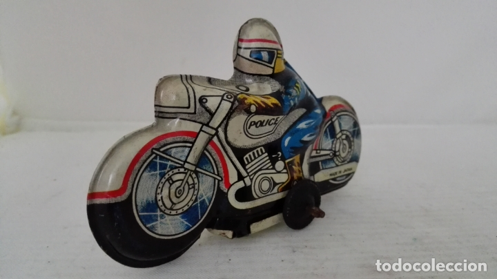 Juguetes antiguos de hojalata: MOTO HOJALATA POLICIA, MADE IN JAPAN, MEDIDAS 10 X 6 X 3 CM - Foto 4 - 54885567