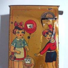 Juguetes antiguos de hojalata: HUCHA RICO/RSA. Lote 172451868