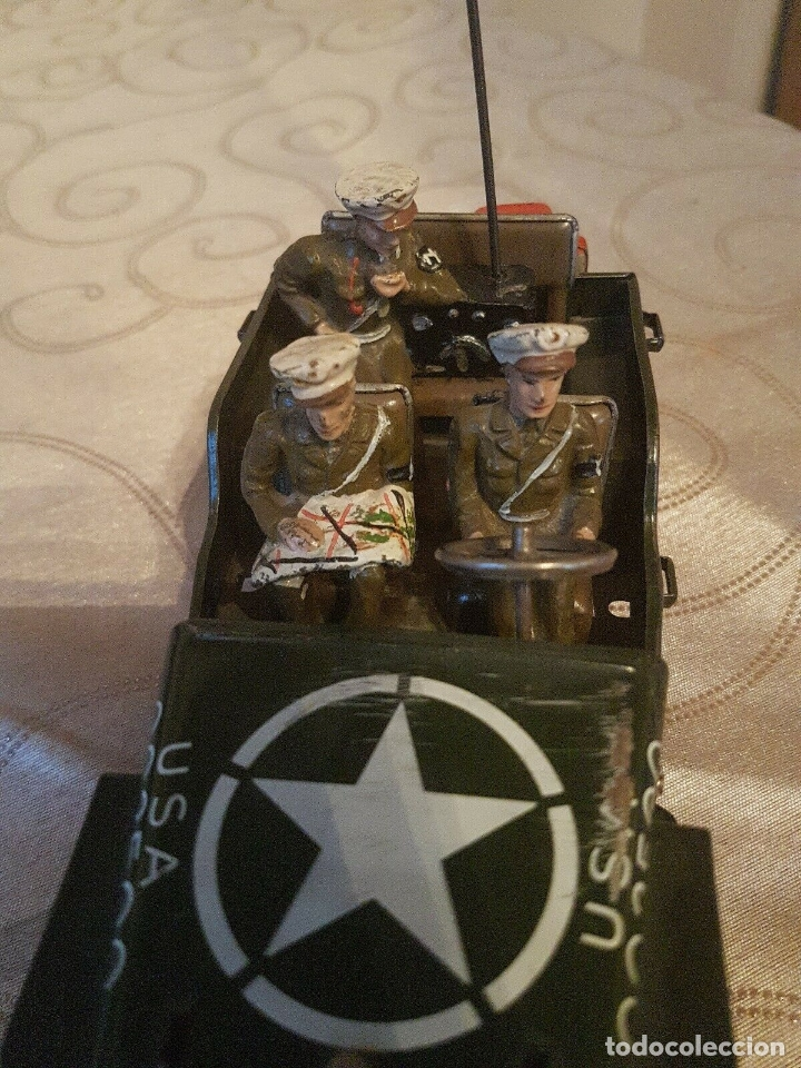 Juguetes antiguos de hojalata: antiguo coche hojalata Arnold Militär Jeep Made in Western Germany 17 cm. 980,00 € - Foto 3 - 172630759