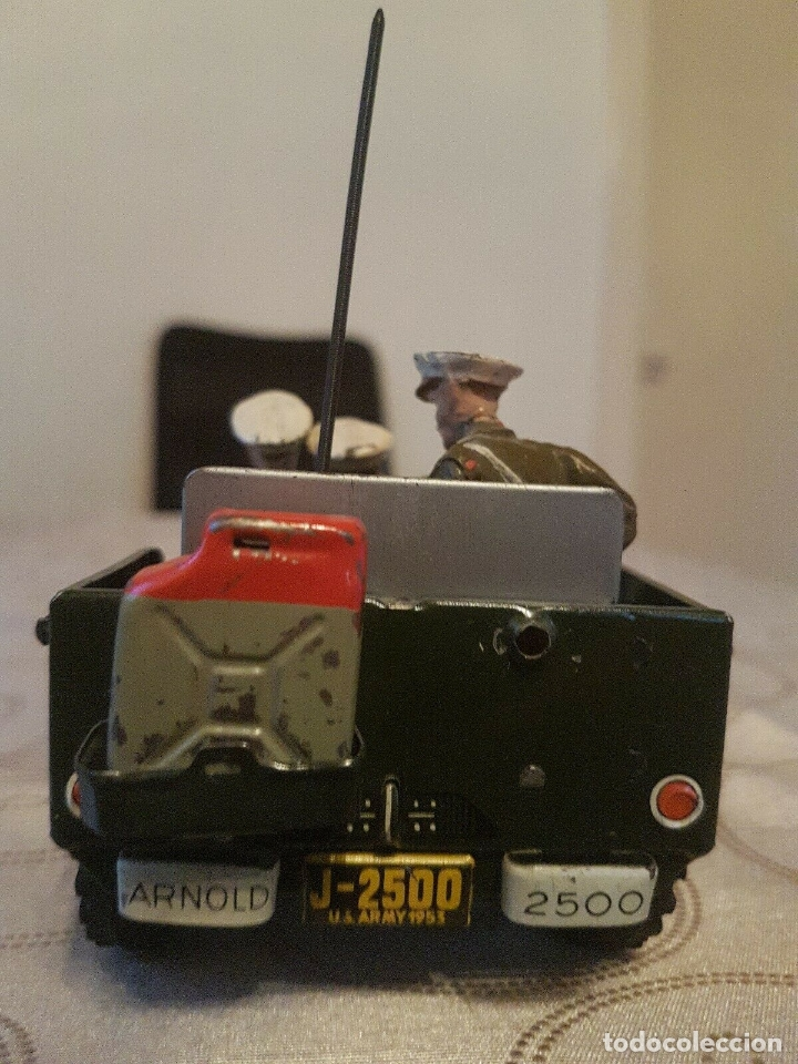 Juguetes antiguos de hojalata: antiguo coche hojalata Arnold Militär Jeep Made in Western Germany 17 cm. 980,00 € - Foto 6 - 172630759