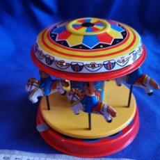 Juguetes antiguos de hojalata: CARRUSEL DE HOJALATA. Lote 172882963