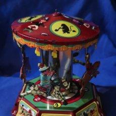 Juguetes antiguos de hojalata: CARRUSEL DE HOJALATA. Lote 172968178