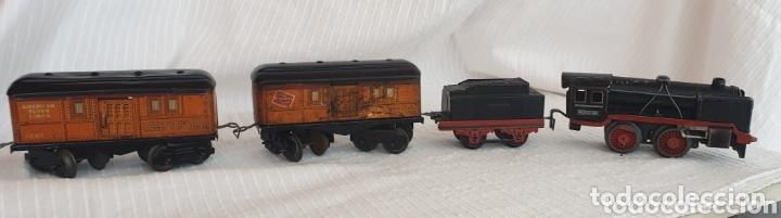 Juguetes antiguos de hojalata: Antiguo tren distler hojalata cuerda - Foto 2 - 173001999