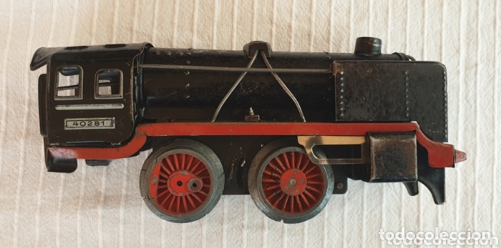 Juguetes antiguos de hojalata: Antiguo tren distler hojalata cuerda - Foto 3 - 173001999