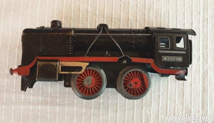 Juguetes antiguos de hojalata: Antiguo tren distler hojalata cuerda - Foto 4 - 173001999