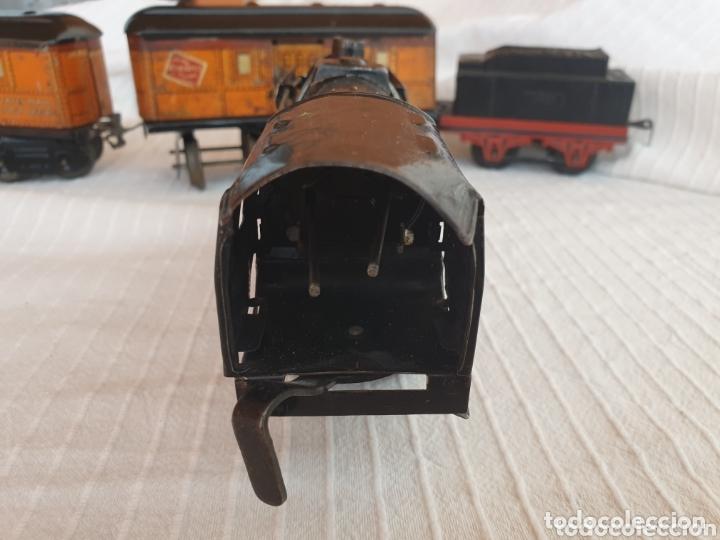 Juguetes antiguos de hojalata: Antiguo tren distler hojalata cuerda - Foto 5 - 173001999