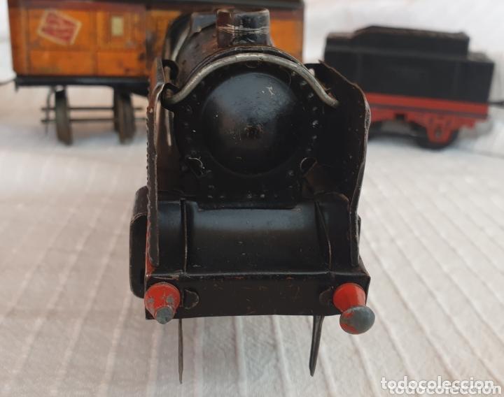 Juguetes antiguos de hojalata: Antiguo tren distler hojalata cuerda - Foto 6 - 173001999