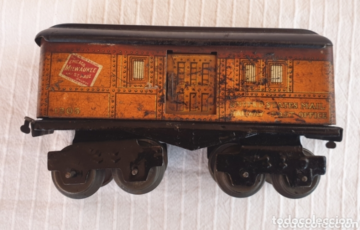Juguetes antiguos de hojalata: Antiguo tren distler hojalata cuerda - Foto 9 - 173001999