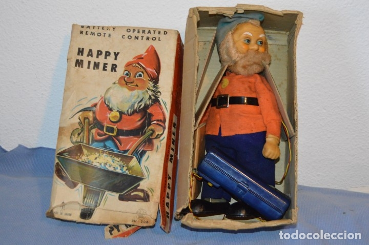 Juguetes antiguos de hojalata: VINTAGE - ANTIGUA AUTÓMATA - HAPPY MINER - MADE IN JAPAN - ASAHI / AÑOS 60 - HOJALATA ¡Muy difícil! - Foto 2 - 173587137