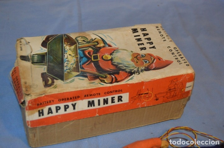 Juguetes antiguos de hojalata: VINTAGE - ANTIGUA AUTÓMATA - HAPPY MINER - MADE IN JAPAN - ASAHI / AÑOS 60 - HOJALATA ¡Muy difícil! - Foto 24 - 173587137