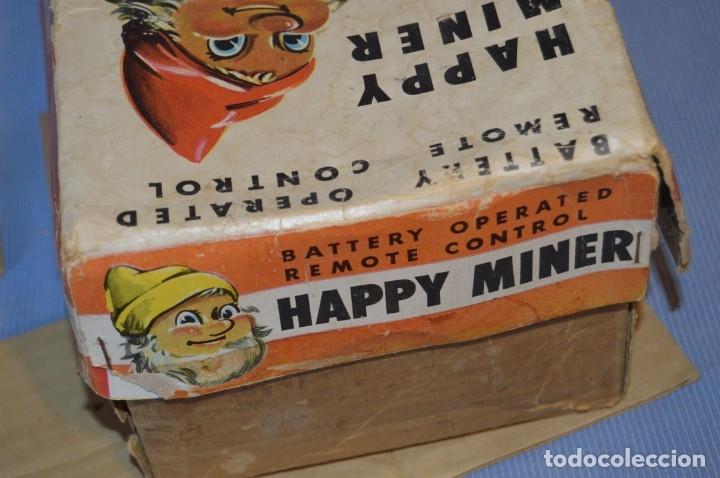 Juguetes antiguos de hojalata: VINTAGE - ANTIGUA AUTÓMATA - HAPPY MINER - MADE IN JAPAN - ASAHI / AÑOS 60 - HOJALATA ¡Muy difícil! - Foto 26 - 173587137