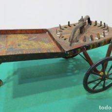 Juguetes antiguos de hojalata: CARRO CARRITO BARQUILLERO RULETA - HOJALATA LITOGRAFIADA PAYA RICO. Lote 173660390