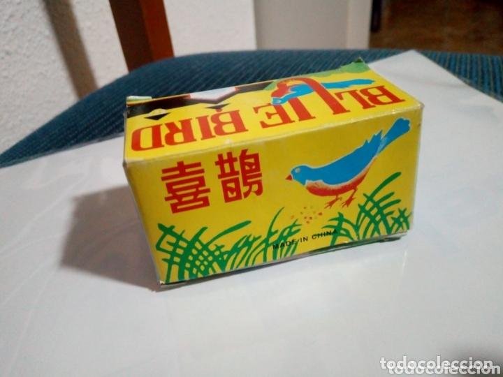 Juguetes antiguos de hojalata: pajaro hojalata blue bird a cuerda en su caja - Foto 3 - 173661553