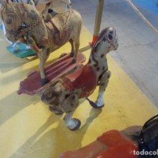 Juguetes antiguos de hojalata: CABALLOS DE HOJALATA. Lote 173885683