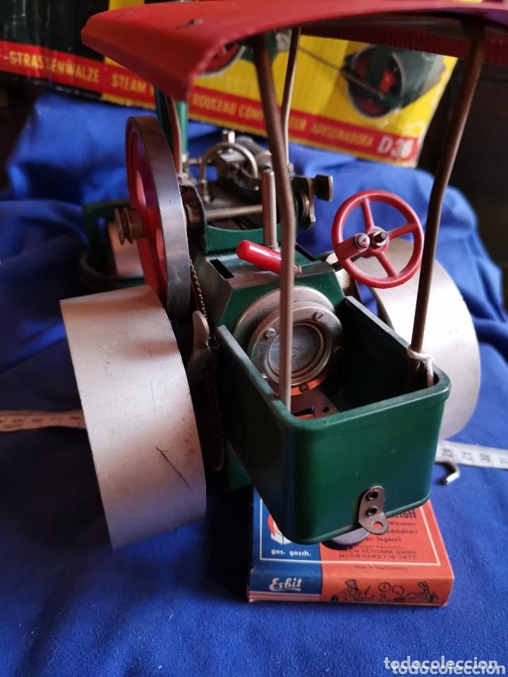 Juguetes antiguos de hojalata: Apisonadora a vapor wilesco - Foto 4 - 174254705