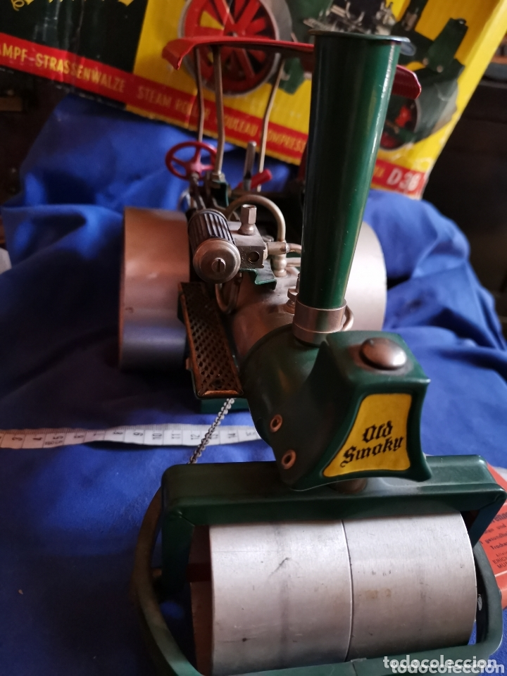 Juguetes antiguos de hojalata: Apisonadora a vapor wilesco - Foto 5 - 174254705
