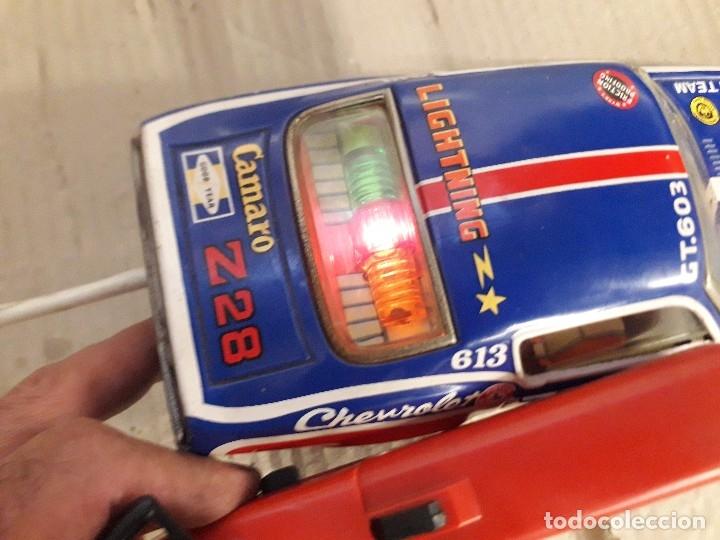 Juguetes antiguos de hojalata: Chevrolet camaro Taiyo, Made in Japan, funcionando - Foto 10 - 174317639