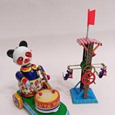 Juguetes antiguos de hojalata: 2 JUGUETES DE HOJALATA. Lote 174466180